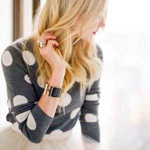 ALICE + OLIVIA Celyn Studded Polka Dot Sweater W30